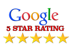Handyman 4 star google rating - Picture of a white box with text displaying